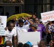 Supporters of Emmerson Mnangagwa -- nicknamed