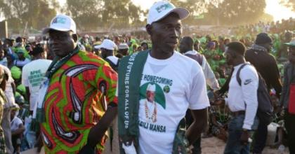 Supporters of Yahya Jammeh rallied last month as the former Gambian leader is accused of atrocities at truth and reconciliation hearings.  By ROMAIN CHANSON (AFP)