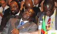 African Leaders sleeping at a summit (AU)
