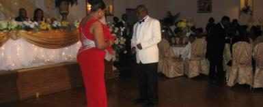 REVEREND FRENCH TAKING TO THE FLOOR WITH HIS WIFE