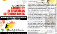Proposal For Ministry Of Ghanaians In Foreign Lands