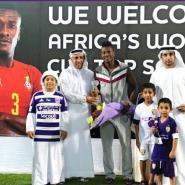 Ghana striker Asamoah Gyan honoured by Al Ain for World Cup achievements