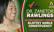 I'm connected to Korle Klottey, says Zanetor Rawlings as she files nominations