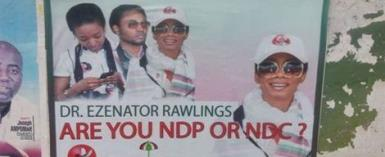 Rawlings' Daughter Faces First Political Test; Her NDP POSTERS Pop Up