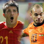 David Villa and Wesley Sneijder