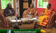 L-R: Kwadwo Asare-Bffour Acheampong (host), Sadinam Tamakloe, Ursula Owusu