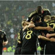 Sami Khedira, center, celebrated with teammates after scoring the winning goal for Germany.