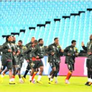 Some members of the Black Stars at trainning during the South Africa 2010 World Cup