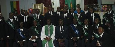 NEW EXECUTIVES OF GHANA METHODIST MEN'S FELLOWSHIP                         SWORN INTO OFFICE