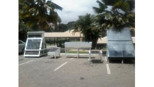 Some solar products on display at Kpoly